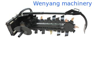 China Trencher attachment for skid steer loader / wheel loader supplier