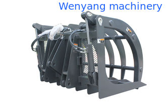 China grass grapple for skid steer loader / skid steer loader / backhoe loader supplier