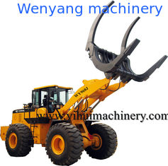 China Chinese wenyang machinery   log loader WY968J 8ton with log grapple supplier