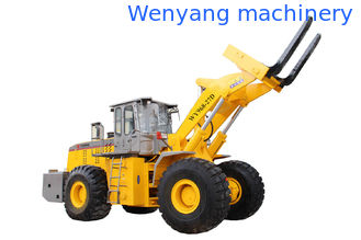 China quarry machine  lifting  27T stone block hydraulic forklift wheel loader with quick hitch with 178KW engine supplier