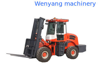 China 3500kg  rought terrain diesel forklift truck with CE suitable for poor road condition supplier