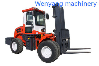 China 5500kg 4WD off road diesel pallet fork truck with CE made in China supplier