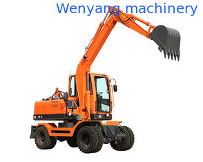 China WY75W-9 0.3m3 bucket hydraulic wheel digger with Yuchai supercharged engine and plunger pump supplier