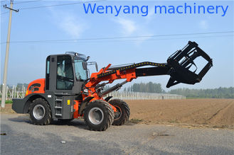 China 2ton  0.8m3 bucket telescopic boom wheel loader with max lifting height 5100mm supplier