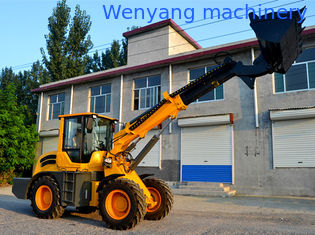China 2.5ton  1.3m3 bucket telescopic boom wheel loader with max lifting height 6000mm supplier