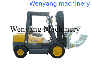 China 3T diesel forklift truck with paper roll clamp specailly for paper manufacturer supplier