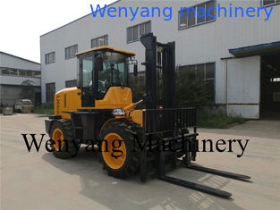 China China 5ton diesel Weichai engine 4m lifting height 4WD good off-road performance rough terrain forklift supplier