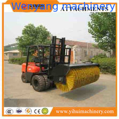 China good quality forklift attachment hydraulic driven angle sweeper broom attachment for forklift supplier