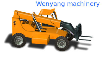 China China made 5ton 4WD Cummins engine 93KW joystick  telescopic boom forklift telehandler supplier