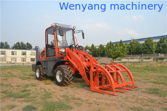 China small wheel loader with 4 in 1 bucket , pallet fork , log/grass grapple , hammer breaker supplier