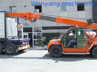 China 10ton crane telehandler for  marble slab loading and unloading from 20GP container supplier