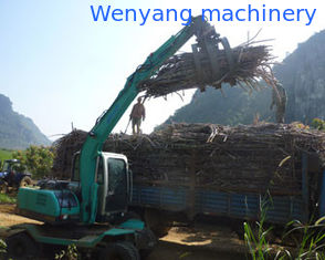 China sugarcane equipment wheel excavator with grapple for sugarcane loading and unloading supplier