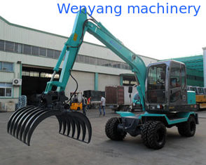 China grab cotton equipment wheel excavator with cotton grapple for sale supplier