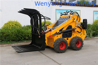 China CE approved WY230 23HP mini skid steer loader with log/grass grapple supplier