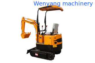 China WY08H 800kg mini rubber track excavator compact digging machine supplier