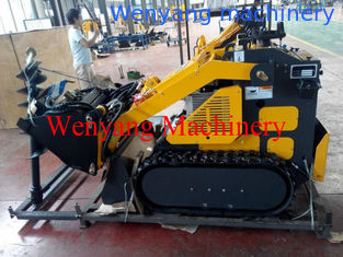 China mini track skid steer loader with 4 in 1 bucket with earth auger supplier