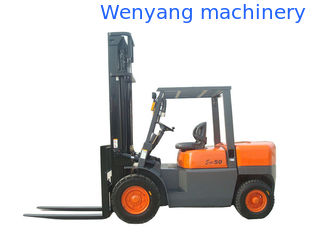 China 5ton diesel container working forklift with  2 stage full free mast supplier