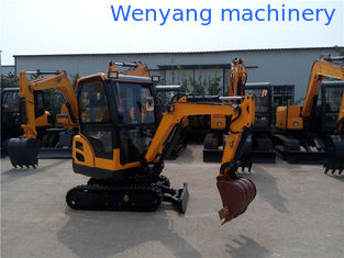 China China 360° rotation small crawler  excavator with ecnclosed cabin supplier