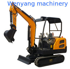 China China 360° rotation rubber type crwaler excavator with dozer blade supplier