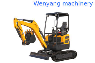 China WY20H canopy Kubota engine mini crawler excavator with pipeline system supplier