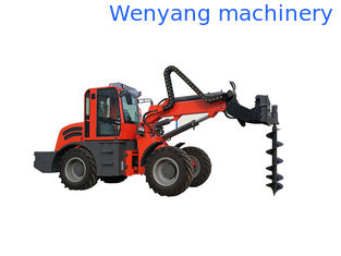 China 2.5ton earth machienry 4WD  telescopic handler  with earth auger supplier