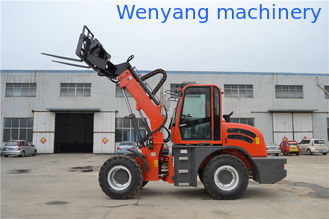 China recycling scrap transportation machinery telescopic loader with grapple supplier