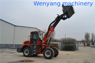 China WY2500 earth machinery 4WD  telescopic loader with lawn mower supplier