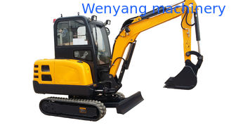 China WY22H mini rubber track excavator compact crawler digger with cabin supplier