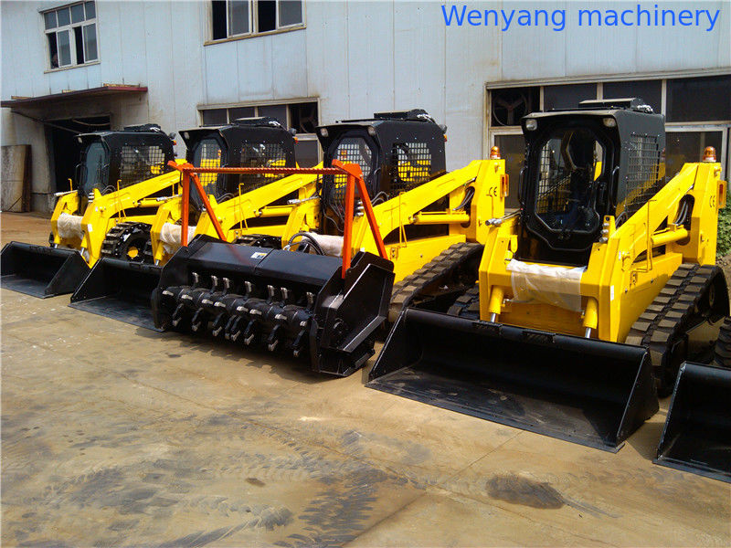 China WY100 track skid steer loader with heavy duty forestry
