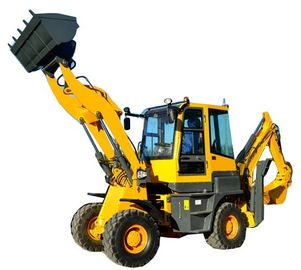Exported model  4 wheel drive  2ton load 1m3 front shovel 0.2m3 excavator bucket backhoe loader