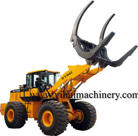 Chinese wenyang machinery   log loader WY968J 8ton with log grapple
