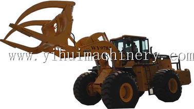 China Wenyang machinery WY978J 12Ton wheel loader with log grapple suitable for big diameter wood log distributor