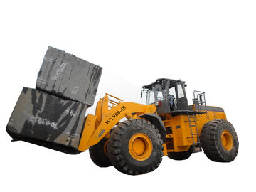 China Supply big capacity rought terrain mine machine 40T block forklift loader with 247KW engine distributor