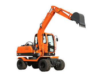 China 0.25m3 bucket XY65W-8 6ton small wheel excavator with gear pump for sale distributor