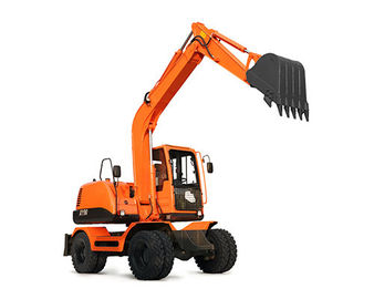 China Chinese high quality wheel excavator with various of attachments suitable for working in salt /stone/cotton industry distributor