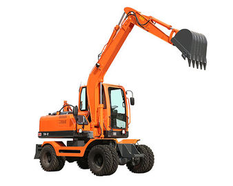 China WY75W-9 0.3m3 bucket hydraulic wheel digger with Yuchai supercharged engine and plunger pump distributor