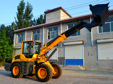 China 2.5ton  1.3m3 bucket telescopic boom wheel loader with max lifting height 6000mm factory