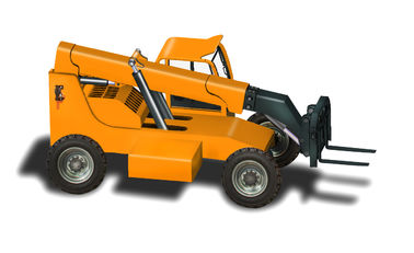 China China made 2.5ton 4WD Cummins engine 75KW 8m lifting height telescopic forklift factory