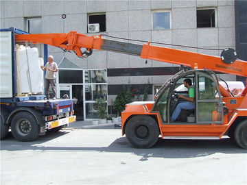 China 10ton crane telehandler for  marble slab loading and unloading from 20GP container factory