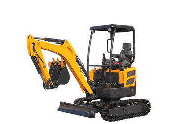 China WY20H canopy Kubota engine mini crawler excavator with pipeline system distributor