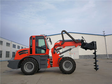 China 2.5ton farmland machinery  4WD  telescopic loader  with earth auger distributor