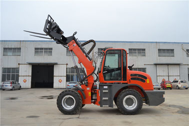 China recycling scrap transportation machinery telescopic loader with grapple distributor
