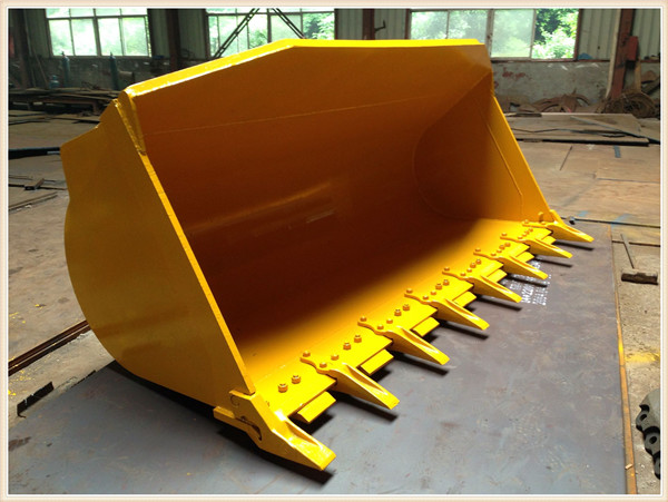 supply good quality kOMATSU WA350-8 wheel loader standard bucket with bucket teeth
