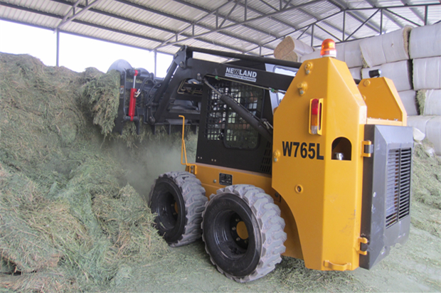 grass grapple for skid steer loader / skid steer loader / backhoe loader