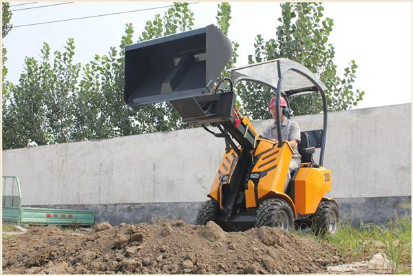 Mini wheel loader WY200 load weight 260kg 0.15m3 bucket  made in China