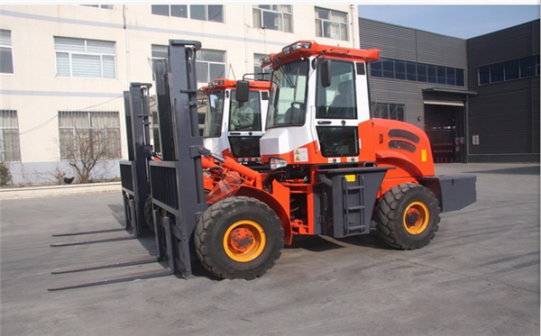3500kg  rought terrain diesel forklift truck with CE suitable for poor road condition