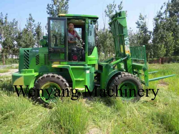 China 5ton diesel Weichai engine 4m lifting height 4WD good off-road performance rough terrain forklift