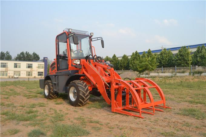 small wheel loader with 4 in 1 bucket , pallet fork , log/grass grapple , hammer breaker