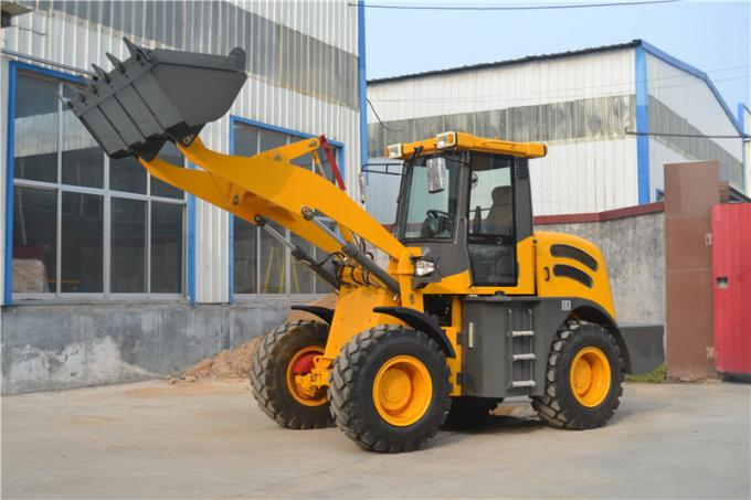 Supply China made 4WD 2ton 1m3 bucket cummins engine front end small wheel loader