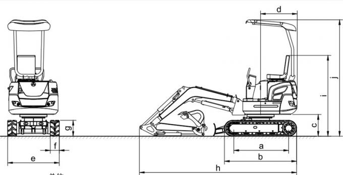 China 0.045m3 small rubber crawler excavator with Yammar engine